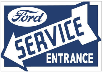 Ford Service Sign (left)
