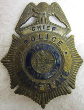 Chief Police Eagle Rock Badge