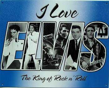 I Love Elvis Metal Sign