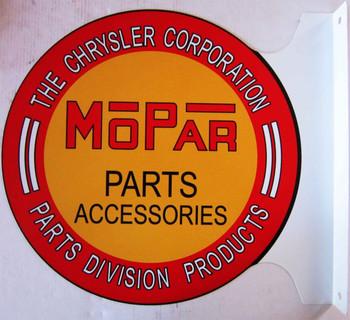"""MOPAR Parts Accessories Flange Sign 12"""""""