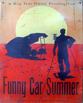Funny Car Summer Metal Sign