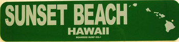 Sunset Beach Aluminum Sign