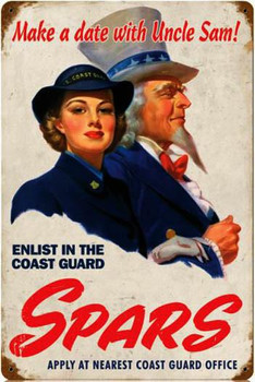 Spars-Coast Guard Metal Sign