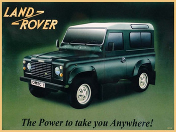 Land Rover (green) Metal Sign