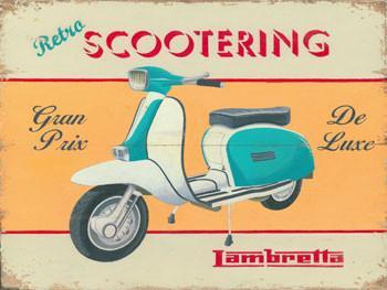 Scootering-Lambretta Metal Sign