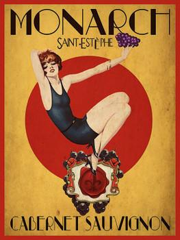 Monarch-Cabernet Sauvignon Metal Sign