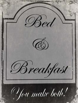 Bed & Breakfast Metal Sign