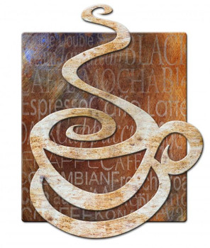 Coffee Cup 3D Metal Sign