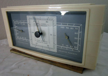 AIRGUIDE WEATHER STATION - White Bakelite-Circa 1940's