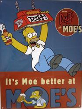 Duff at Moe's Metal Sign