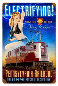 Pennsylvannia Electric Pin-Up Metal Sign