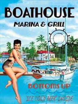 Boathouse  Marina & Grill Metal Sign