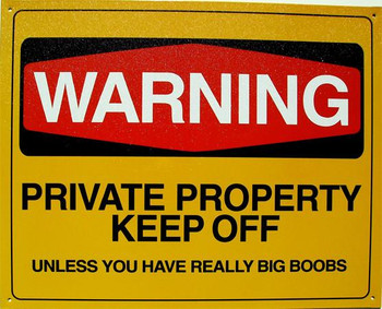 Warning Private Property Keep Off Metal Sign