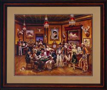 The Western Saloon S/N Giclee Canvas Limit Edition