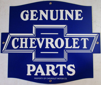 """Genuine Chevrolet Parts ( 18"""" by 15"""" ) Laser Cut Metal Sign"""