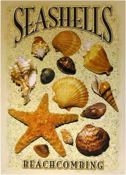 Seashells-Beachcombing Metal Sign