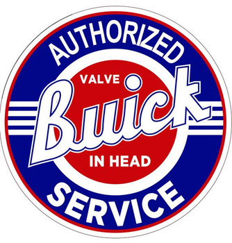 """Buick-Authorized Service 14"""" Round Metal Sign"""