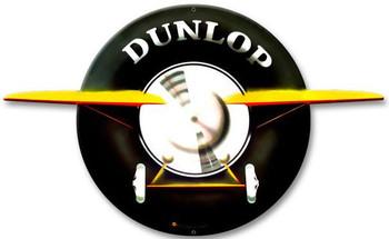 Dunlop Plane Plasma Cut Metal Sign