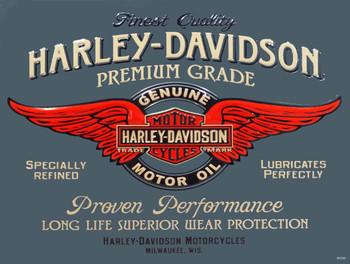 Genuine Motor Oil Harley-Davidson Metal Sign