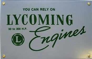 Lycoming Engines Porcelain Sign