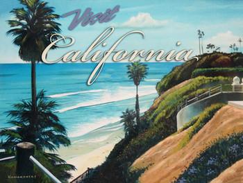 Visit California Metal Sign