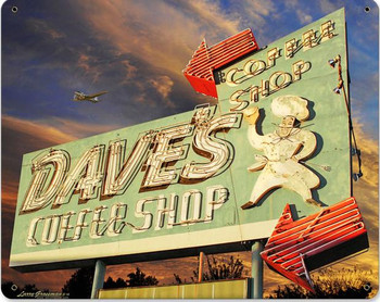 Dave's Coffee Shop Metal Sign
