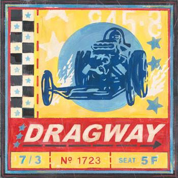Dragway Metal Sign