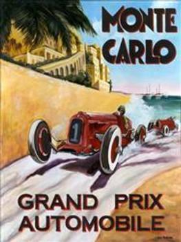 Monte Carlo / Grand Prix Metal Sign