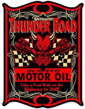Thunder Road Motor Oil Metal Sign