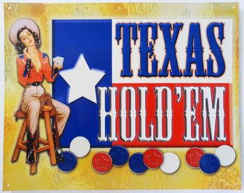 Texas Hold'Em Pin Up