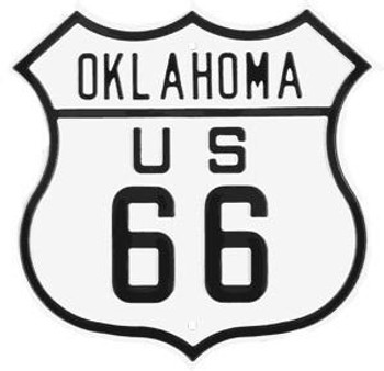 Oklahoma Route 66 Steel Embossed