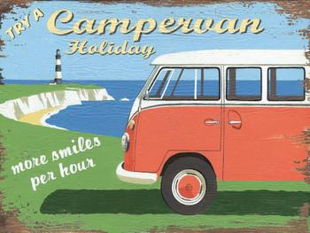 Campervan Holiday Metal Sign