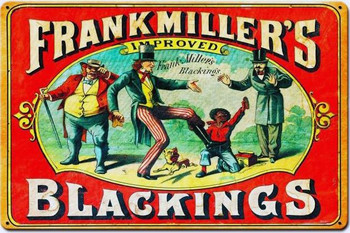 Frank Miller's  Blackings Shoe Polish Metal Sign