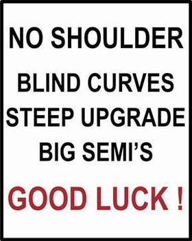 No Shoulders-Good Luck (disc) Metal Sign