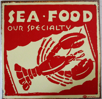 Seafood-Our Speciality Rustic Limited Edition Metal Sign