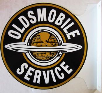 """Oldsmobile Service Flange Sign 12"""""""