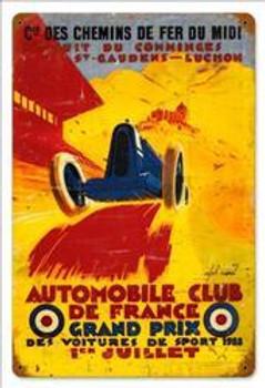 France Grand Prix Vintage Metal Sign