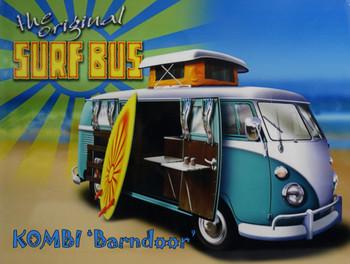 The Original Surf Bus Kombi Barndoor Volkswagen Metal Sign