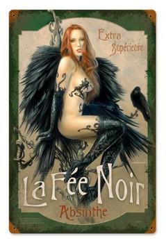 La Fee Noir Metal Sign