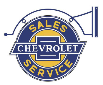 "Chevrolet Sales-Service 23"" (hanging)"