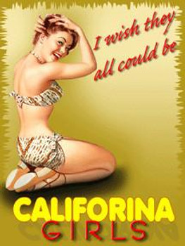 California Girls Metal Sign