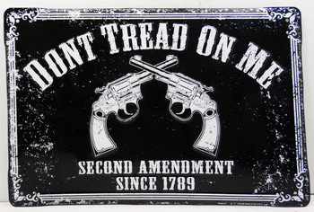 Don't Tread on Me Embossed Sign