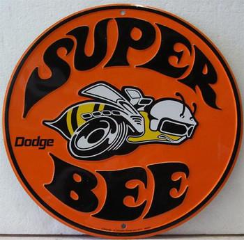Super Bee (round) Metal Sign