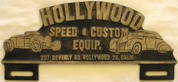 Hollywood Speed & Custom (plate marker)