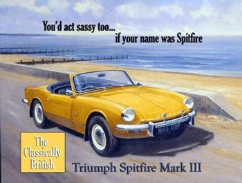 Triumph Spitfire Mark lll Metal Sign