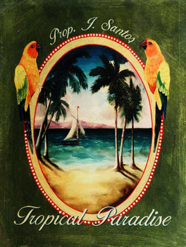 Tropical Paradise Metal Sign