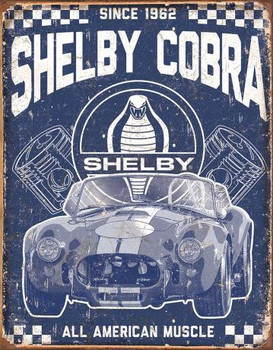 Shelby Cobra-American Muscle Metal Sign