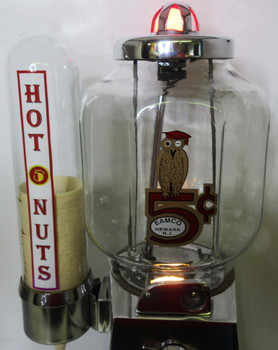 Asco Peanut Dispenser with Side Mounted Cup Holder