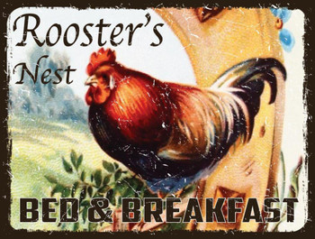 Rooster's Nest Metal Sign