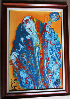 """Lenny Aaron """"Clak and Dager"""" Original Painting"""